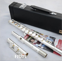 NEW! Top L&K Music fluteYFL 210/YFL 271 16 hole / 17open /obturator C pure silver E key flute musical instrument free