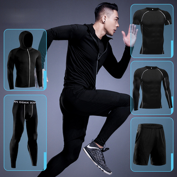 Gym Men's Running Fitness Sportswear Athletic Physical Training Clothes Suits