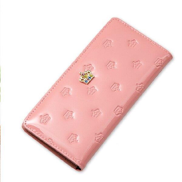 Popular Crown Women Change Purse Patent Leather Women Wallet Diamante Portable Carteira Multicolor Fresh Women Coin Purse leather crown повседневные брюки