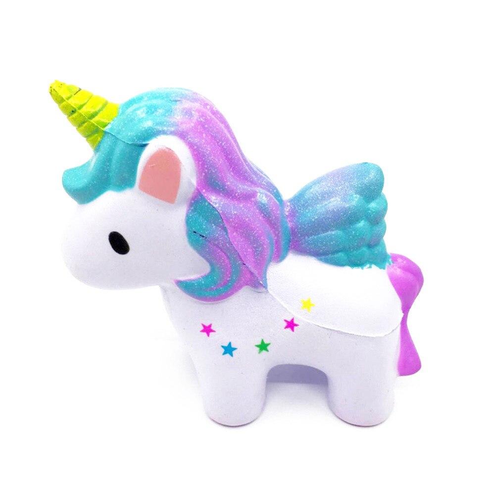 4.7 polegadas Mini Suave Nova Linda Rainbow Dreamlike Cavalo Unicórnio Mole Perfumado Mole Lenta Subindo Squeeze Brinquedos Coleção