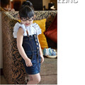 Sale summer style fashion baby girls denim dress high quality  kids overalls dresses girl Straps dress