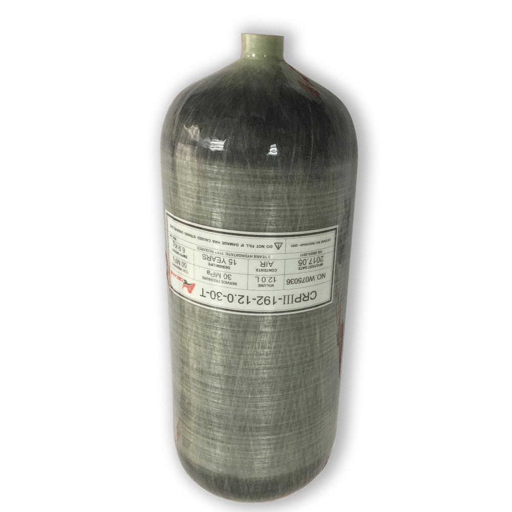 AC3120 Underwater Gun Diving Tank Airgun Air Compressed300BA Paintball Tank Carbon Fiber Cylinder 12L Composite Material Acecare