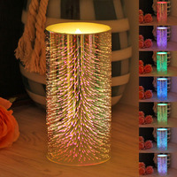 GiveU Decorative 3D Fireworks light LED Candles,Color changing with timer, for Christmas Vintage Home Decoration lamp