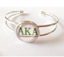 AKA Alpha Kappap Alpha Sorority bangles Women Bracelets Jewelry