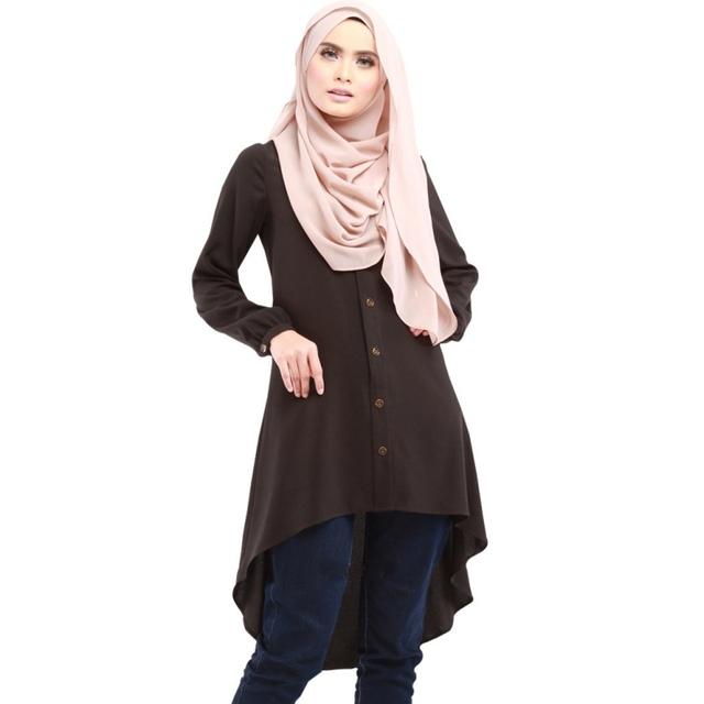 Ethnic Women Long Tops Shirt Islimic Kaftan Wear Middle East Shirt Muslim Clothes