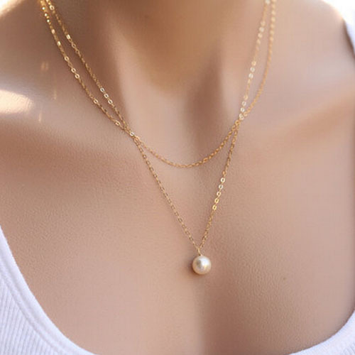 TX286 New Fashion 2014 Gold Silver Pearl Torques Collar Necklace&Bracelet Set Necklace Pendant Jewelry - stylish accessories store
