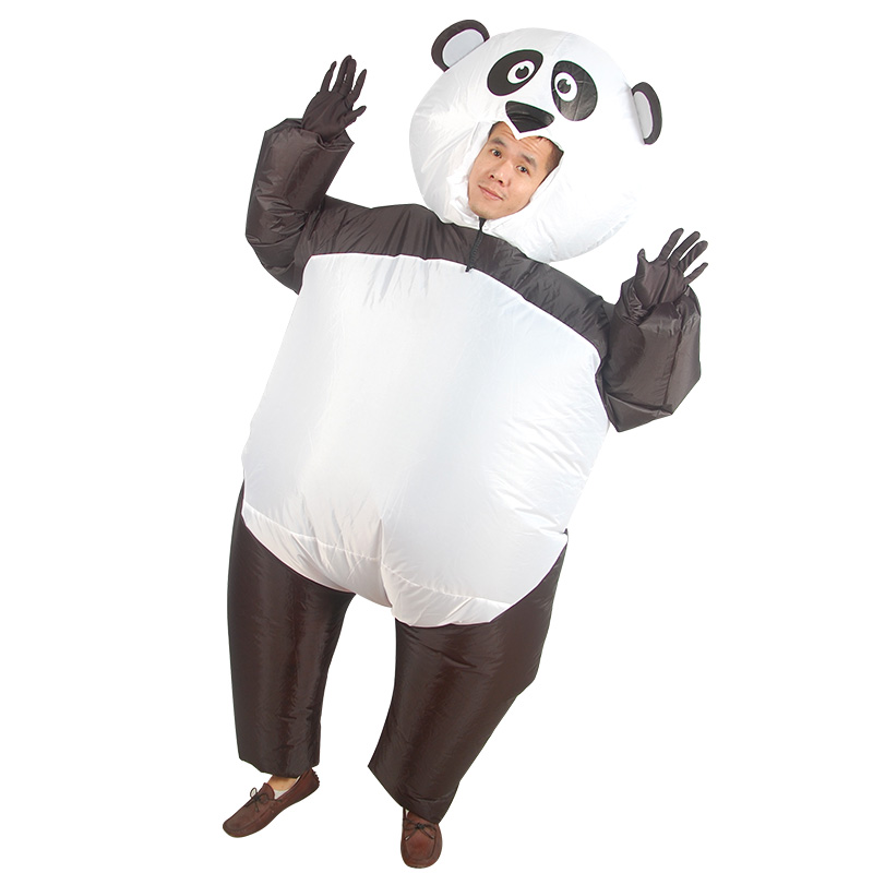 Inflatable Monster Costume panda Mascot Cosplay Costume for Adult Chinese cute panda costume Halloween Purim Party
