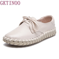 New Women Genuine Leather Shoes Moccasins Mother Loafers Soft Leisure Flats Female Driving Casual Shoes Size