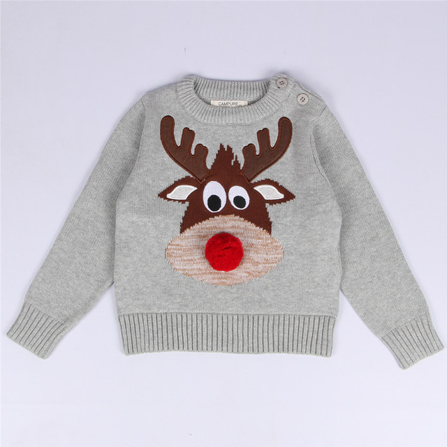 2016 New Children Clothing Boys Girls Long Sleeve O-neck Sweater Christmas Children Carton Sweater For Kids Boys Girls H335