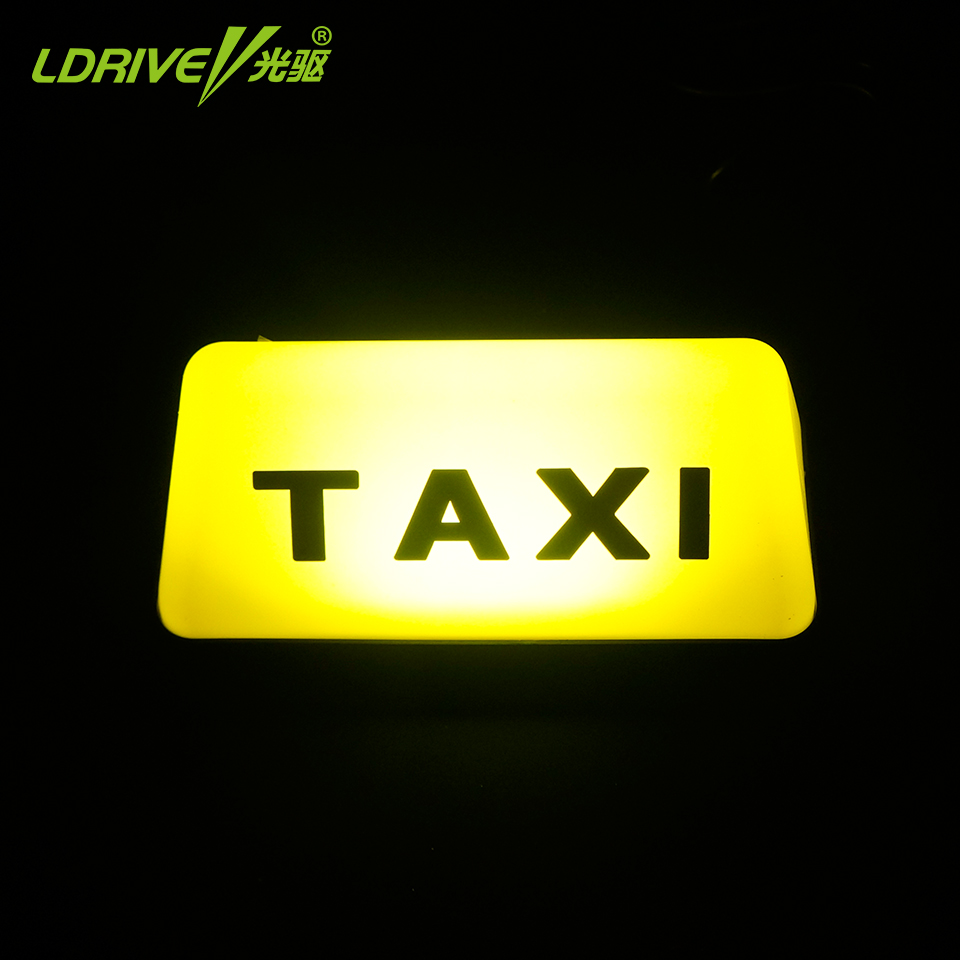 LDRIVE 1 PC 12V 5W Bright Led Car Roof TAXI CAB Indicator Lamp Sign Yellow Red Taxi Light Lamp Adhesive Tape Mounted 45smd led white blue green red yellow car auto cab sign top light vehicles windscreen white led lamp dc 12v taxi light