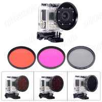 Fantaseal Lens Filter for GoPro Hero 3 Housing Professional 58mm Underwater Color-Correction Red +Magenta Dive Filter + CPL