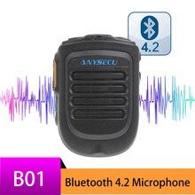 BluetoothマイクB01ハンドヘルドワイヤレスマイクのための3グラム4グラムnewwork ipラジオrealptt zelloアプリandroid携帯電話