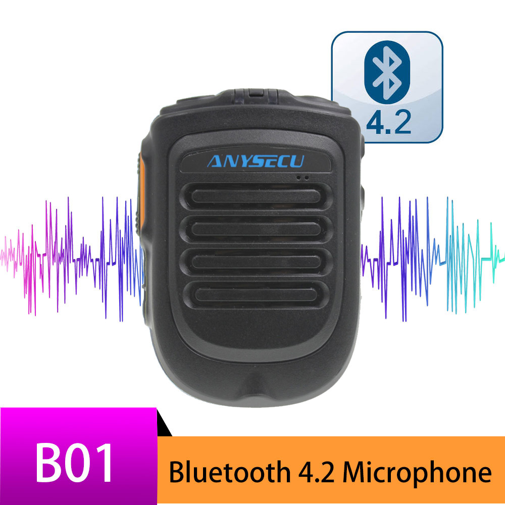Bluetooth Microphone B01 Handheld Wireless Microphone for 3G 4G Newwork IP Radio With REALPTT ZELLO App image