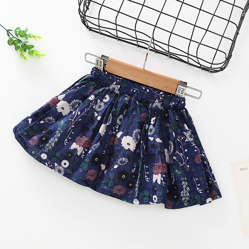 Cute Baby Girls Summer Tutu Skirts Girl Flower Print Princess Pettiskirts Kids Ballet Dancing Party Skirt Children Clothes