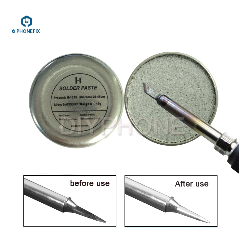 Solder Iron Head Tip Refresher Soldering Iron Oxide Paste For Solder Iron Tip Resurrection Soldering Acessory Tip Clean Material