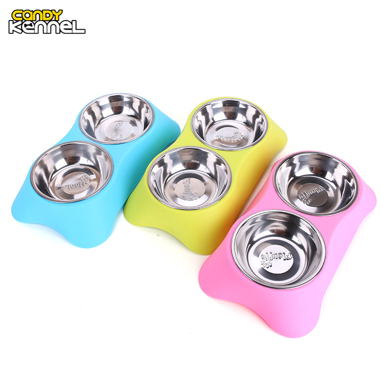 Stainless Steel Double Pet Bowls for Dogs