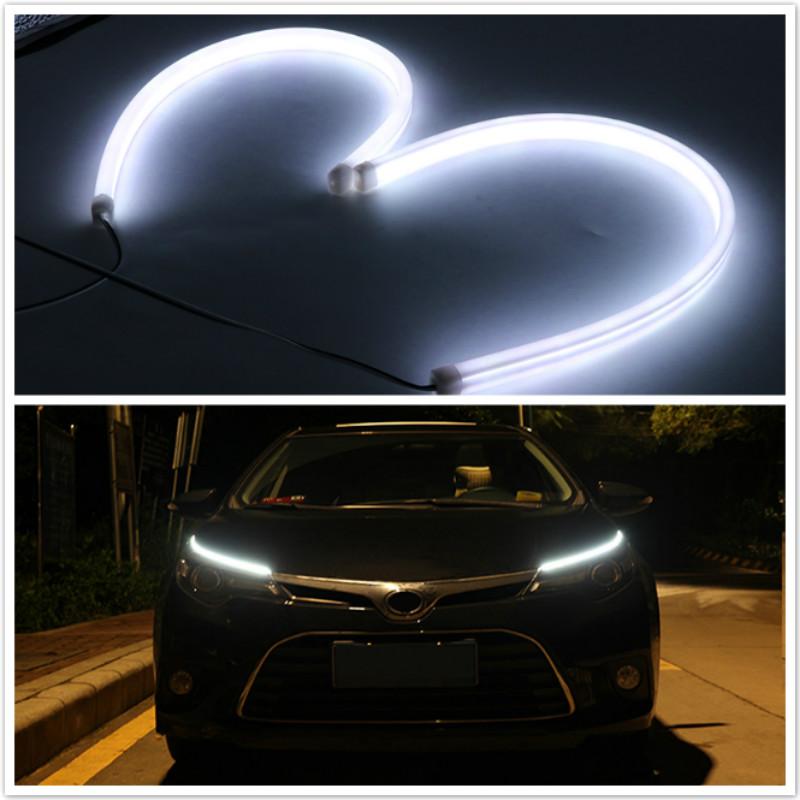 2x Daytime light DRL Lamp For Toyota Corolla Camry Avensis Yaris For Ford focus VW Passat GTI MK4 MK5 MK6 Golf  Volvo Infiniti atmosphere light decorative neon lamp strips car styling for seat leon ibiza toyota avensis rav4 yaris corolla hilux accessories