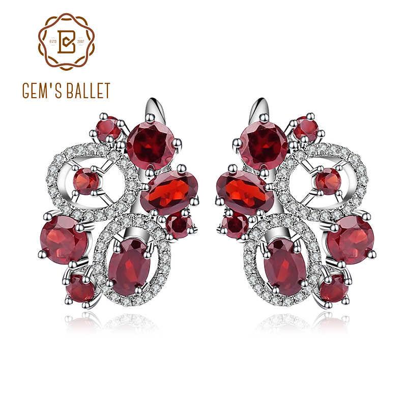 6f506c5de Detail Feedback Questions about GEM'S BALLET 6.23Ct Natural Garnet Gemstone  Flower Stud Earrings 925 Sterling Silver Fine Jewelry For Women Wedding  Earrings ...