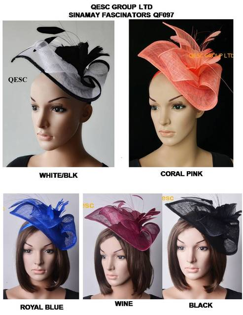 79c2d613 NEW ARRIVAL.Sinamay fascinator hat in SPECIAL shape with feather flower for kentucky  derby and