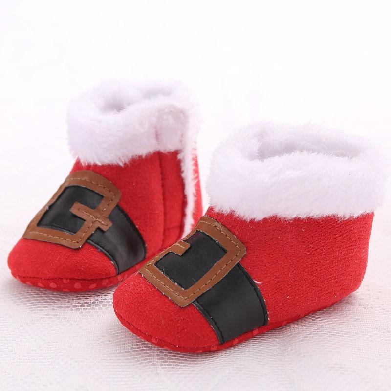 WONBO Baby Boys Girls Shoes Cute Cartoon Christmas Party Causal First Walkers Prewalker Soft Soled Footwear Moccasins Shoe