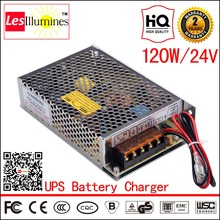 AC DC Constant Voltage Output 4A UPS 24V External Car Battery Backup Charger CE 120W Switching Power Supply with UPS Function