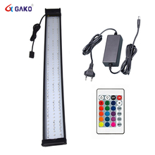 Aquarium LED Lighting RGB Light with Dimmable Color Changing Remote Control 30W Fits for 95~115cm Fish Tank