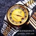 REGINALD lujo de la Marca Superior del Cuarzo de Los Hombres Reloj de Pulsera de Oro Reloj de Manera para Los Hombres Regalo Vestido de Fiesta 50 m Resistente Al Agua relojes de pulsera