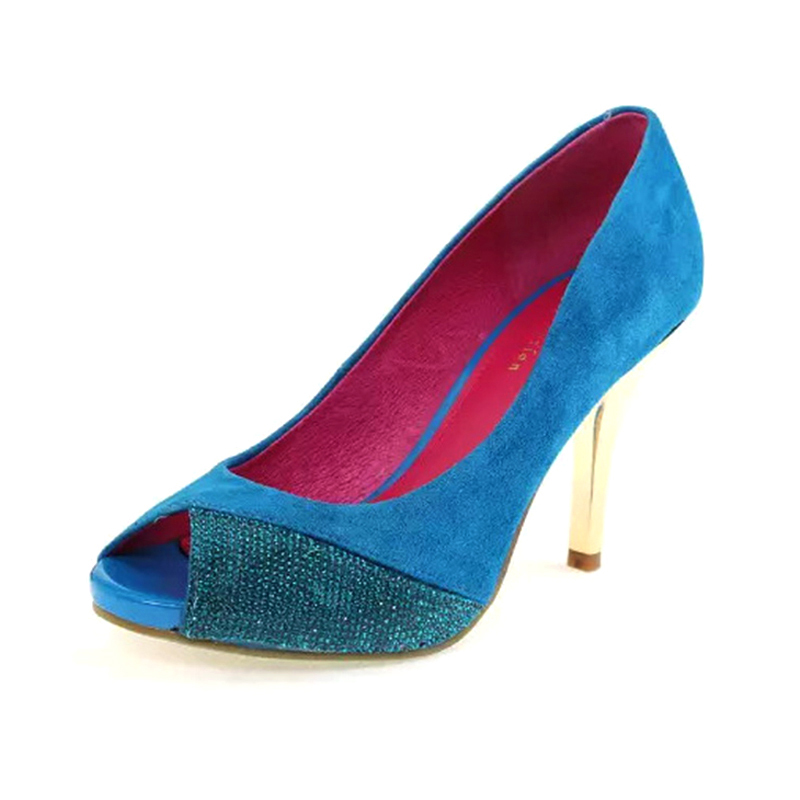ФОТО Spring elegant skin fine diamond plating with single shoes, work shoes female fish mouth high-heeled shoes 326