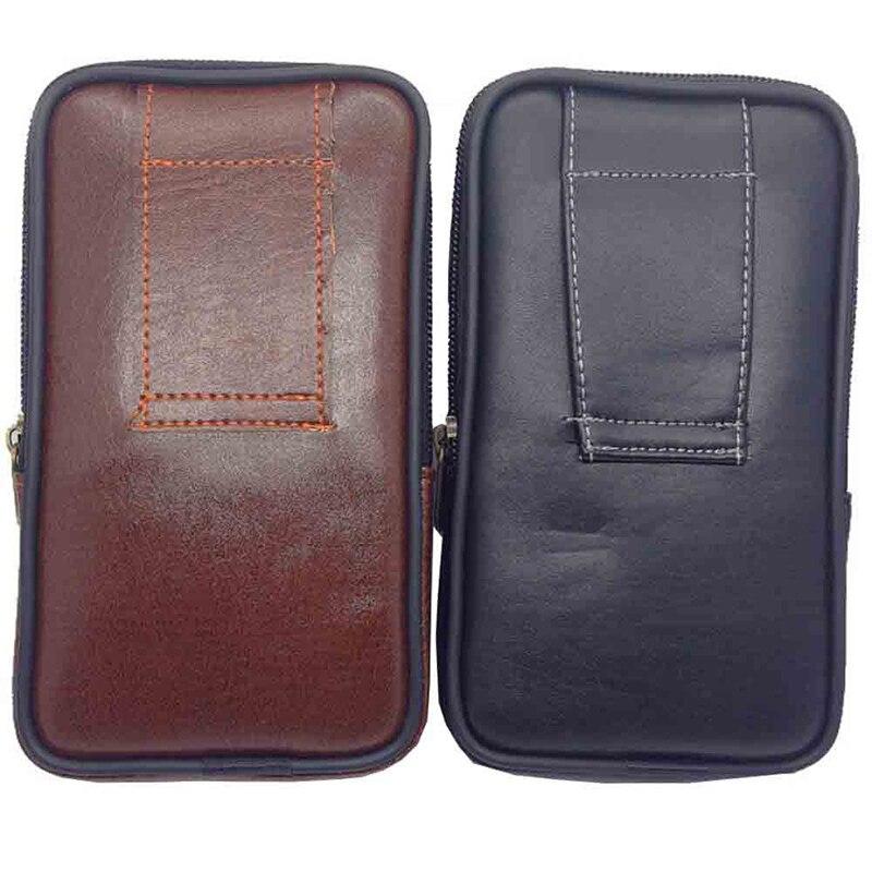 HTB1eM38XEzrK1RjSspmq6AOdFXaW Multipurpose Camping Hiking Zipper Tactical Belt Outdoor Pouch Waist Bag  Vintage Security Pack Mini Men Faux Leather Waist Bag