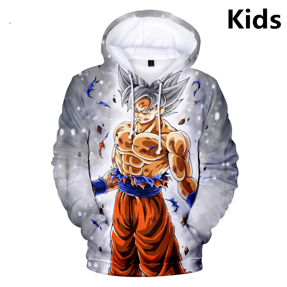 2 To 13 Years Kids Hoodies Dragon Ball Z Kid Goku 3D Printed Hoodie Sweatshirt Boys Girls Long Sleeve Jacket Children Clothes