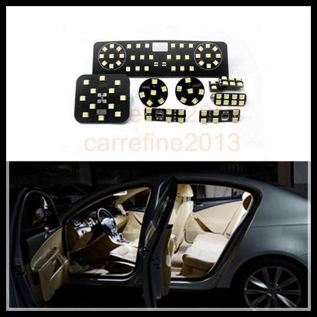 8 pcs car led interior reading dome map light kit for volkswagen vw git/magotan/cc/old sagitar/r36 car luggage trunk abs hook for volkswagen cc new magotan octavia new sagitar black