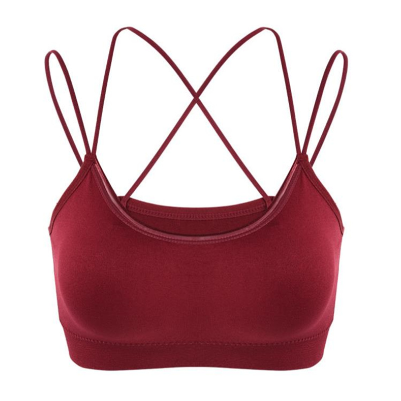 Methodical Sexy Women Seamless Bras Femme Lingerie Bralette Invisible Push Up Bra Cross Beauty Back Sports Wrapped Chest Free Size Red Hot Women's Intimates