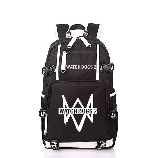 3c729d9d14 Women Men Anime Watch Dogs 2 Backpack Rucksack Mochila Schoolbag Bag For School  Boys Girls Student Travel