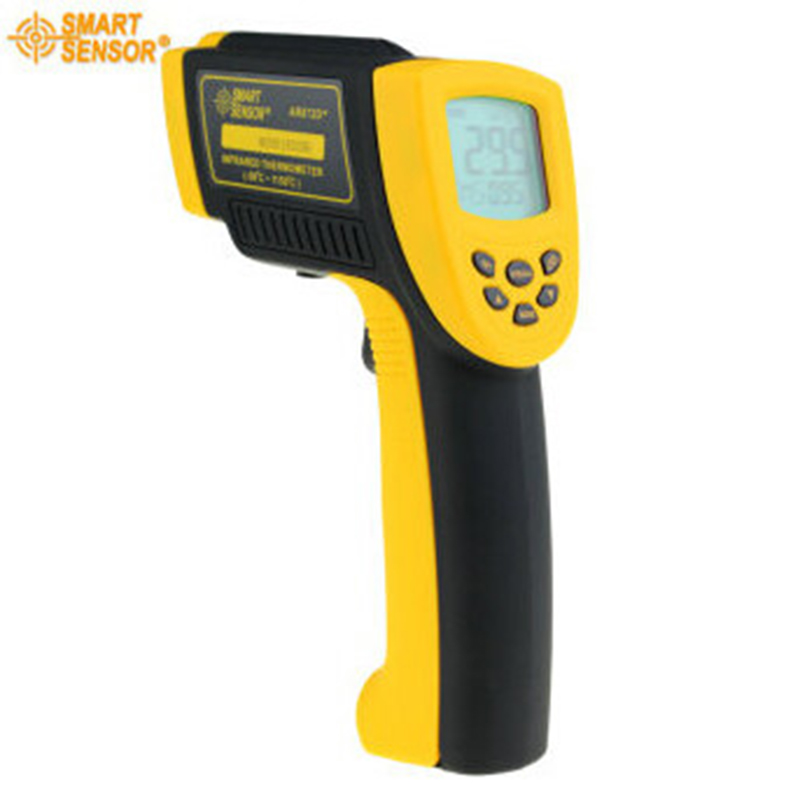 Smart Sensor Digital infrared thermometer AR872D+ -50~1050C (-58~1992F) LCD IR Laser Point Gun noncontact Infrared Thermometer elecall 50 800c adjustable emissivity autooff lcd noncontact digital laser infrared thermometer ir high temperature gun tester page 9