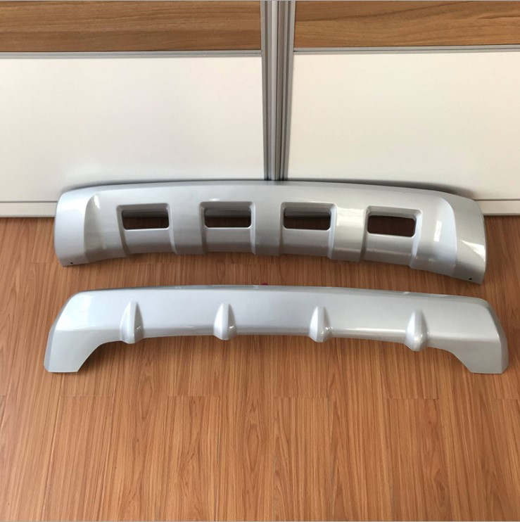 MONTFORD ABS Front Rear Bumper Diffuser Skid Protector Plate Guard Cover Board Trim For Mitsubishi Pajero Sport 2016 2017 2018 stainless steel front rear bumper protector skid plate guard trim for porsche cayenne 2015 2016 2017