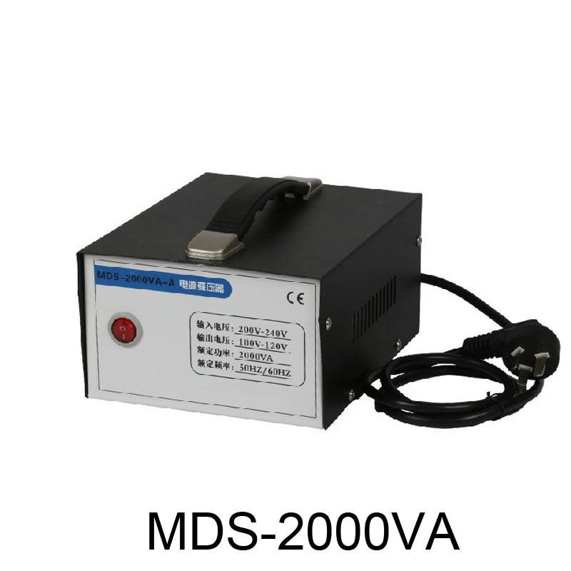 Voltage converter 220v to 110v transformer 2000VA 2KW appliances Power converter Toroidal Transformer by DHL 500va toroidal transformer match for mj2001 a50m and iraud350 amp board