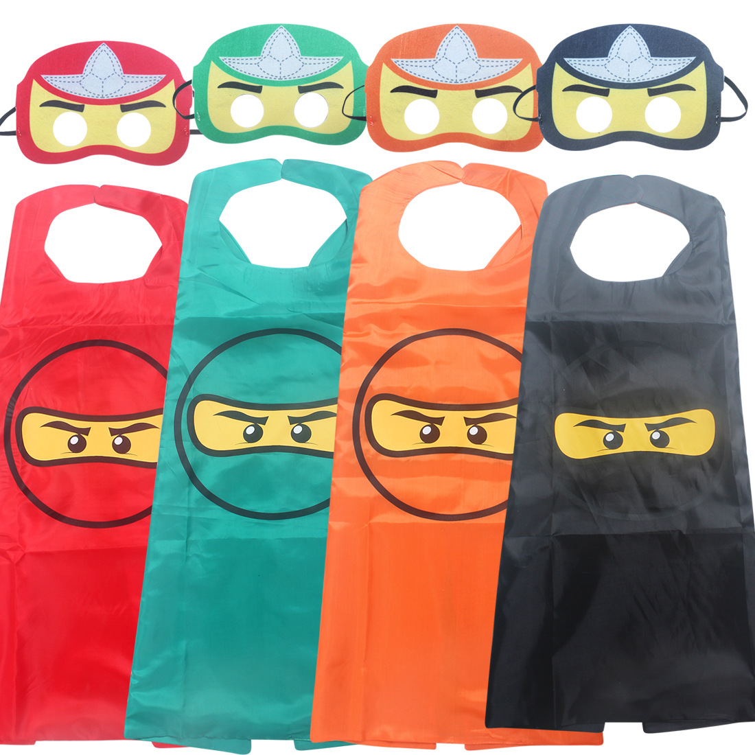 ninjago Super hero man spiderman batman capes with masks for kids birthday party supplies - party favor clothing set for 2-10Y