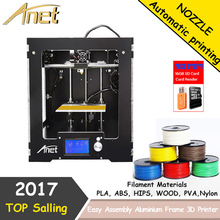 High End Anet A3 3D Printer Aluminum Frame Full Assembled Desktop Reprap Prusa i3 Mini 3D Printer for ABS PLA HIPS 3D Printing