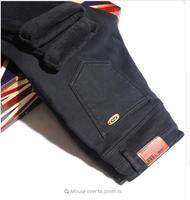 2016 New Winter Men S Jeans Stretch Pants Feet