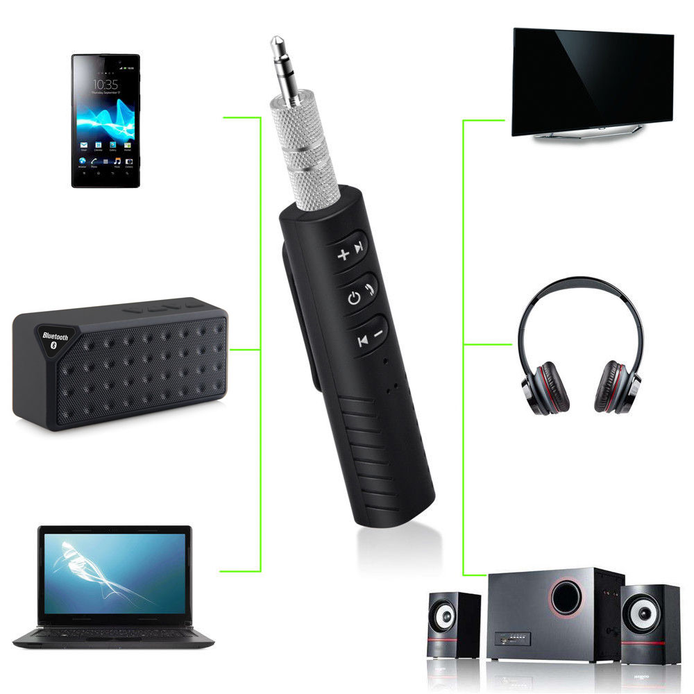 Wireless Bluetooth Receiver 3.5mm Jack Bluetooth Audio Music adapter with Mic for Headphone Speaker for Free Gift