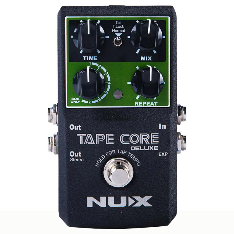 NUX Tape Core Deluxe Tape Echo Delay Effects Guitar Pedal Classic Tape Echo Tone 7 delay Modes guitar pedal with User Manual