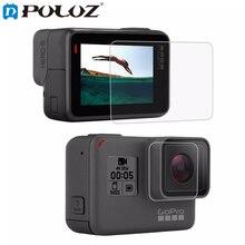 Para GoPro Acessórios de Vidro Temperado Filme Protetor de LCD Protetor de Tela HD + Lente de Habitação para GoPro HERO5/Herói 5 Black edition