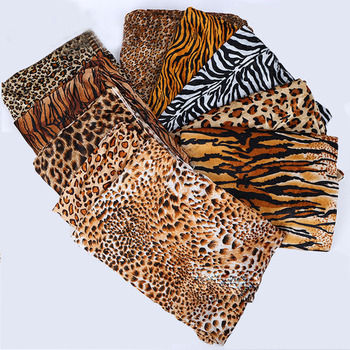 Animal Patterns Zebra Print Leopard Printed Short Pile Faux Fur Fabric For Costumes/Home Decoration
