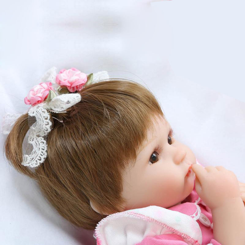 NPK COLLECTION Silicone Reborn Baby Doll For Girl Toy 42CM Soft Vinyl Lifelike Babies Toddle Boenca Dolls + Nipple+Baby Bottle lifelike american 18 inches girl doll prices toy for children vinyl princess doll toys girl newest design