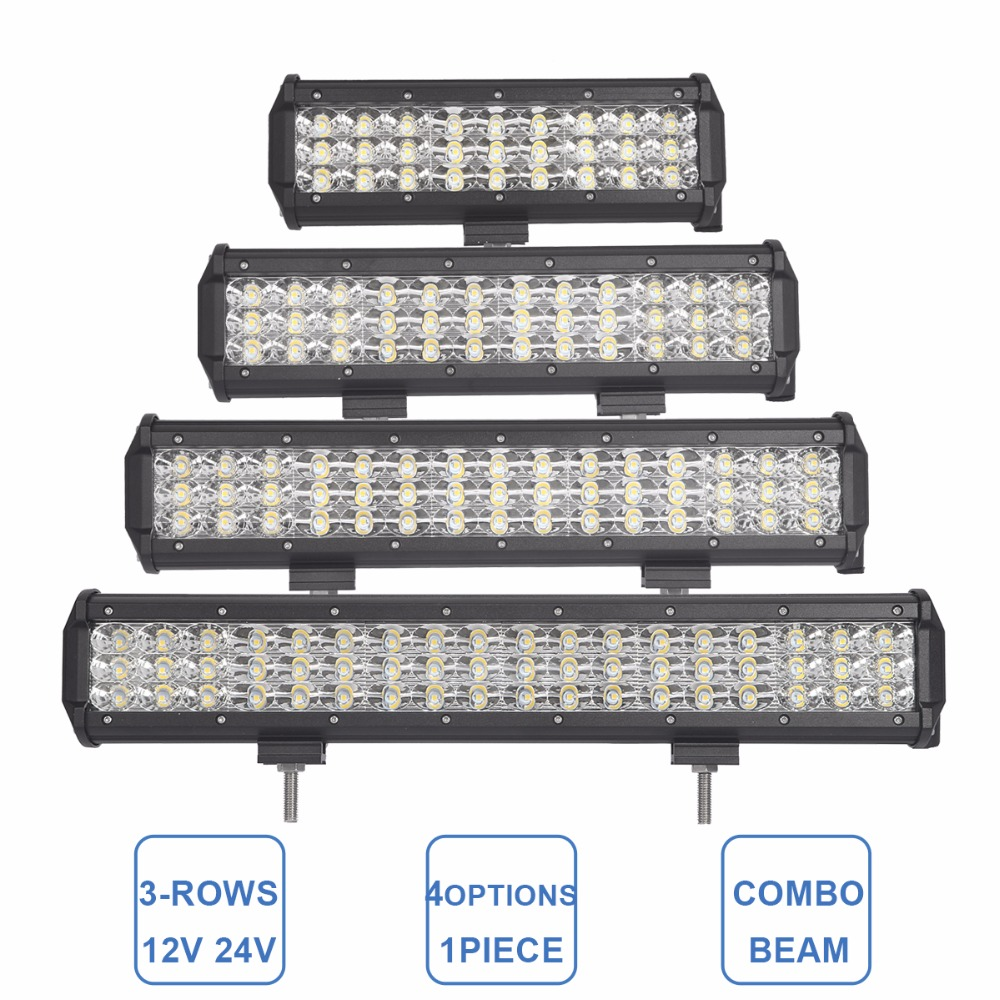 Offroad 9 12 15 18 INCH LED WORK LIGHT BAR 12V 24V CAR TRUCK ATV SUV TRAILER BOAT COMBO 4X4 4WD RZR WAGON UTE LED DRIVING LAMP