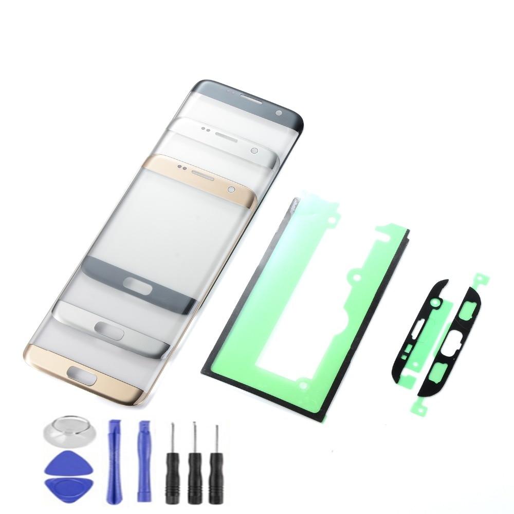 Écran tactile Pour Samsung Galaxy S7 Bord G935 G935F LCD Affichage Écran Tactile Panneau Capteur Digitizer Verre avec Adhésif + outils
