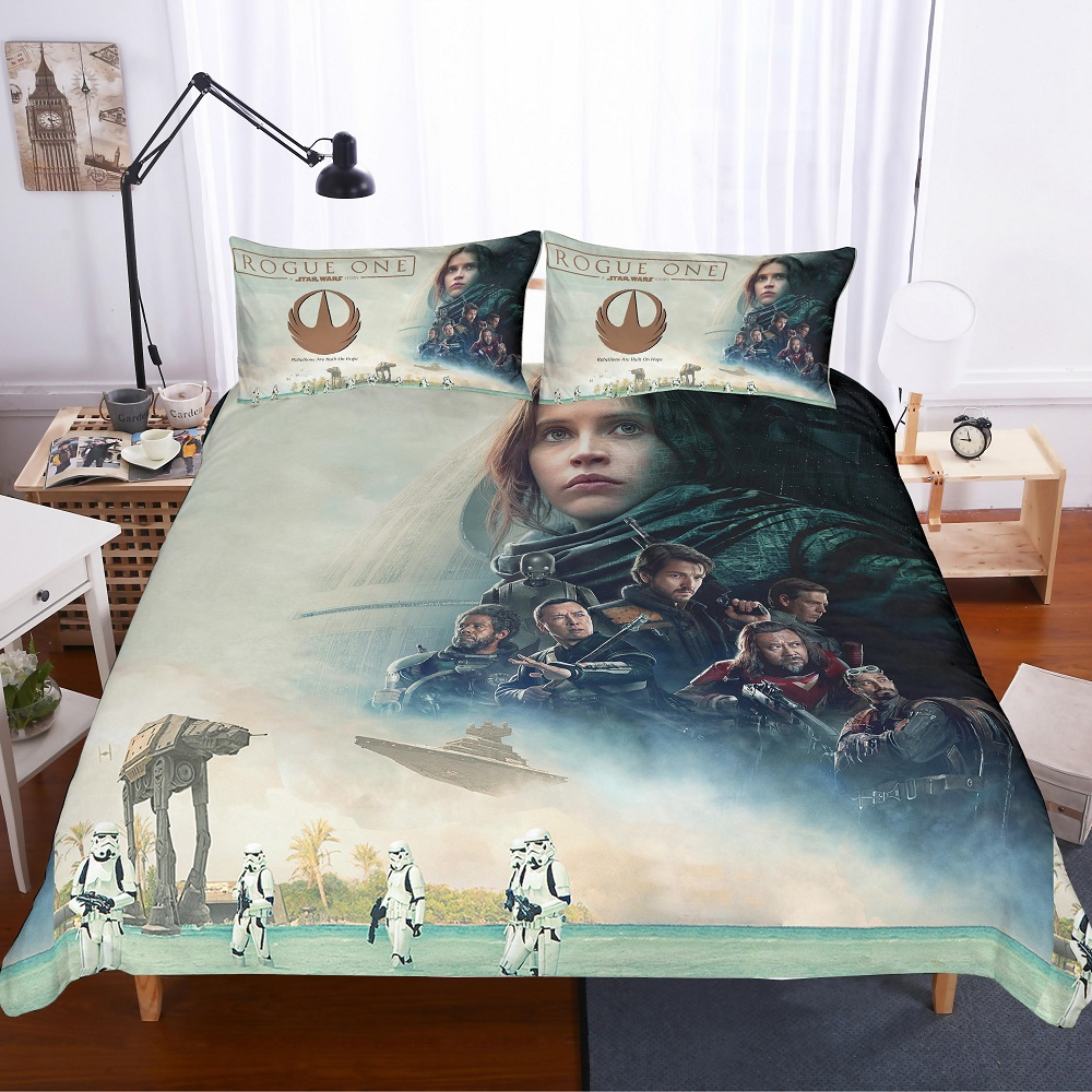 Star Wars Rouge One Twin//Full Quilt and Sham Set