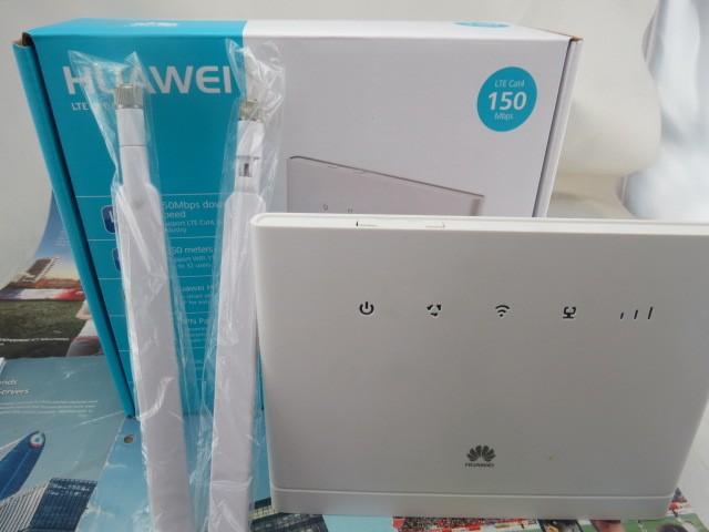 Huawei B315s-22 4 G LTE 150 Mbps FDD TDD Router CPE inalámbrico + 2 unids B315 antena