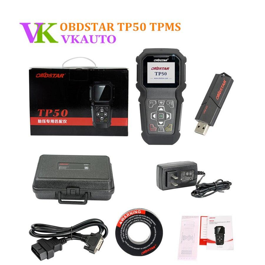 Nowy OBDSTAR TP 50 TP50 inteligentne wykrywanie TPMS aktywacja Reset i narzędzie diagnostyczne