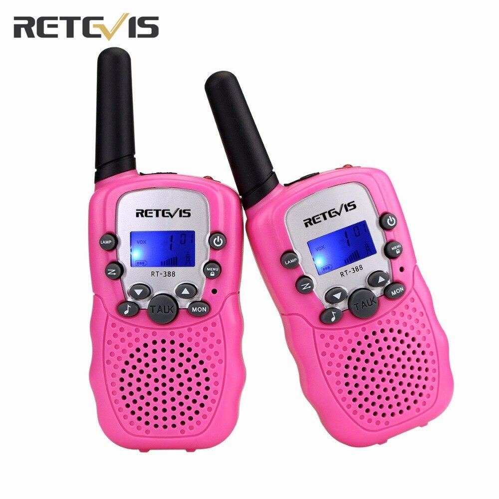 2pcs Mini Walkie Talkie Retevis RT388 Portable Radio Set Kids Radio 0.5W UHF 446 MHz Children Two Way Radio Communicator A7027